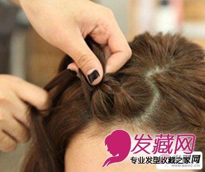 学会刘海编发更实用 短发怎么扎简单好看 →苹果头&刘海编发 简单3