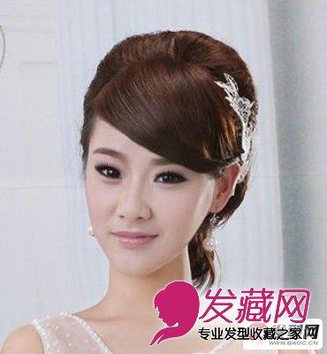 盘发新娘发型