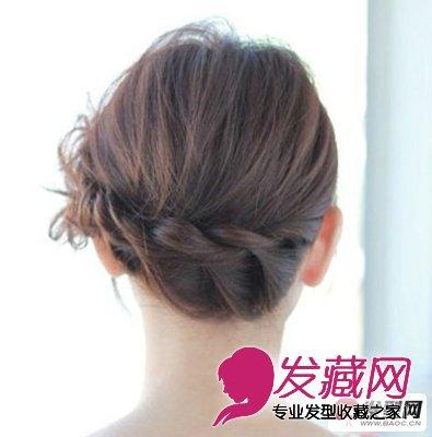 中长发发型扎法 扎出时尚靓丽的韩式编发盘发(6)图片