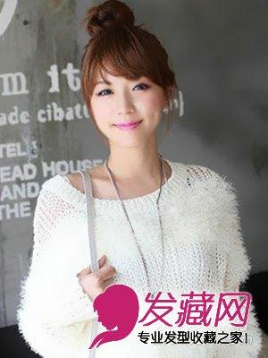 女生可爱发型 > 减龄扮嫩 这八款发型不容错过(3)  导读:齐刘海丸子头