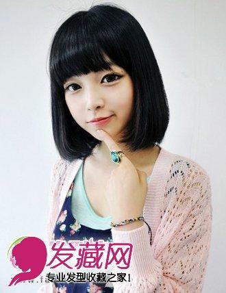 简单齐刘海的发型头发型短发打造减龄完美蘑菇张国荣发型怎么弄图片