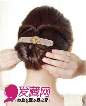 靓丽韩式发型扎法步骤 简单韩式盘发图解(7)图片