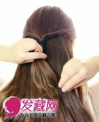 靓丽韩式发型扎法步骤 简单韩式盘发图解(3)