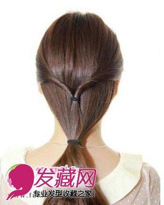 靓丽韩式发型扎法步骤 简单韩式盘发图解(4)图片