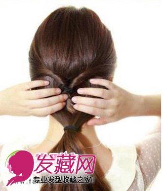 靓丽韩式发型扎法步骤 简单韩式盘发图解(5)