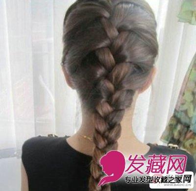 蜈蚣辫的编法图解 靓丽迷人的蜈蚣辫的编发发型(6)