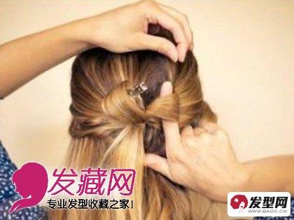 【图】最新时尚英伦风编发发型教程图解(5)