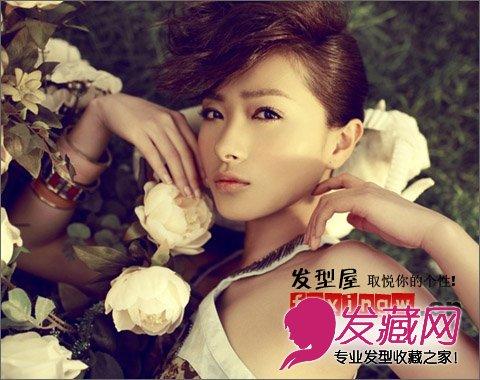 显优雅女人味 我家有喜 万茜刘海发型图片