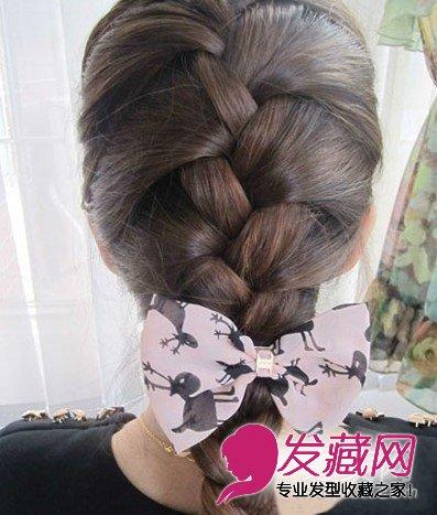 蜈蚣辫的编法图解 diy韩式气质发型图片