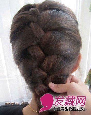 蜈蚣辫的编法图解 diy韩式气质发型(7)图片
