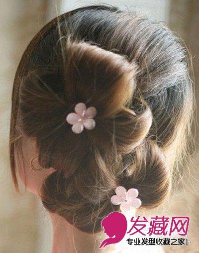 高耸的花苞头发型 长发这样扎最甜美 →韩式盘发图解 最新盘发发型图片