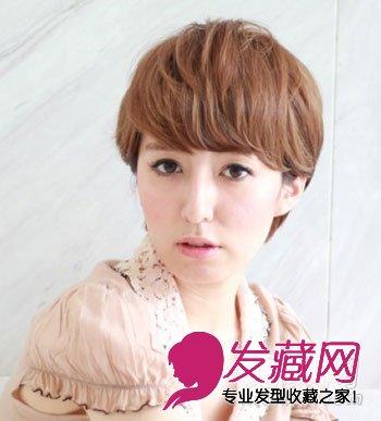 【图】人气学生小清新短发 刘海提升气质(5)_刘海发型图片