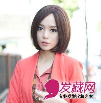 女生首选的波波头短发发型图 气质修颜零差   除去齐刘海的感觉,中