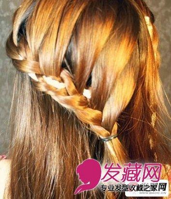 瀑布辫&美人鱼编发 超适合的约会发型 →diy一款荷兰鱼尾辫美图片