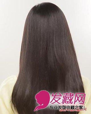 女生长直发发型图片 流露纯美气息(6)图片