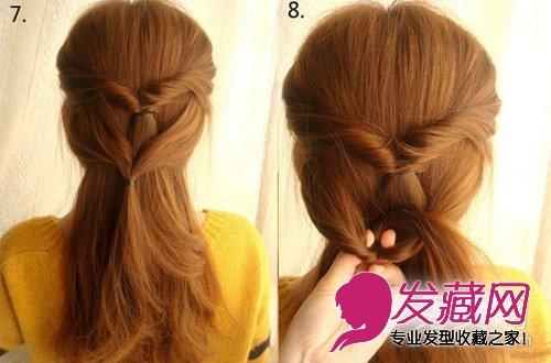 直发怎么扎好看 麻花辫编发半扎发(5)