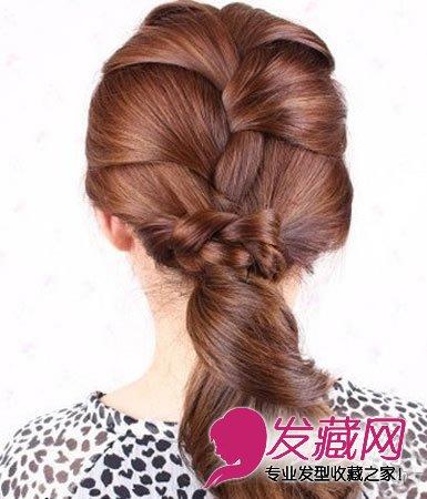 秋季简单盘发步骤及教程让你长发变 →清新的韩式盘发发型 手残党也能图片