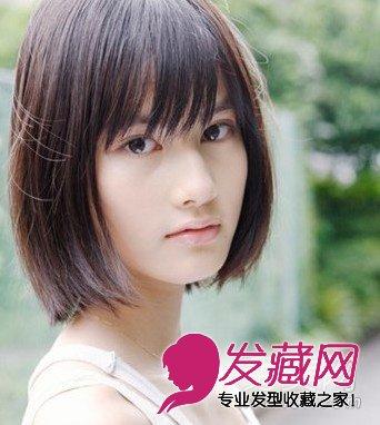 2012流行染发颜色 韩式女生气质短发发型图片