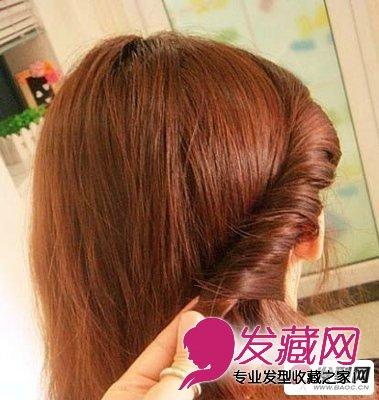 气质仙女编发盘发教程图解 时尚最温婉迷人气质(4)