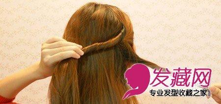 发型网 发型设计 盘发发型 > 气质可爱编发教程diy 气质韩式盘发(3)