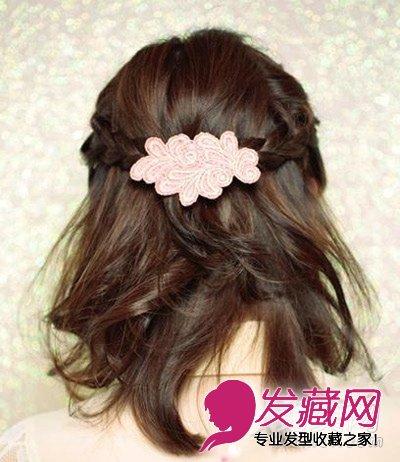 短发怎么扎好看 简单的短发半扎教程(2)