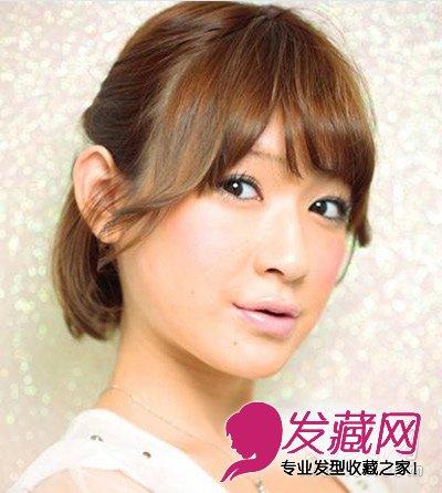 短发怎么扎好看 简单的短发半扎教程(6)
