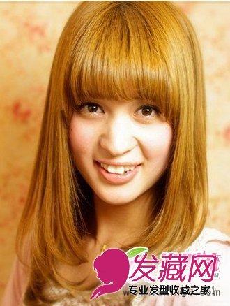 齐刘海梨花头发型 修颜最佳发型 6 梨花头发型 发藏网