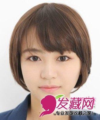 【图】适合圆脸的短发发型图片 轻松修饰脸型(4)_女生