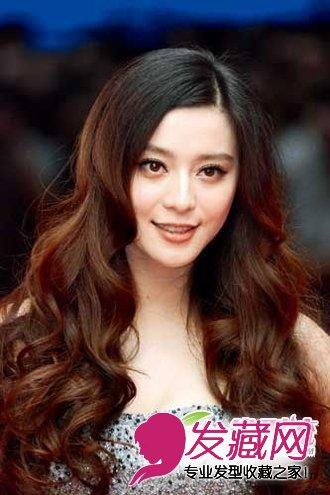 范冰冰长发大卷发型_【图】童颜美女齐刘海发型图片欣赏(2)_刘海发型_发藏网