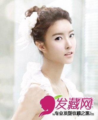 花苞头韩式新娘发型