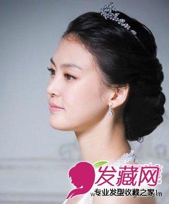 7张图看懂西方新娘 →无刘海修饰的新娘发型 小花旦古装新娘发型p