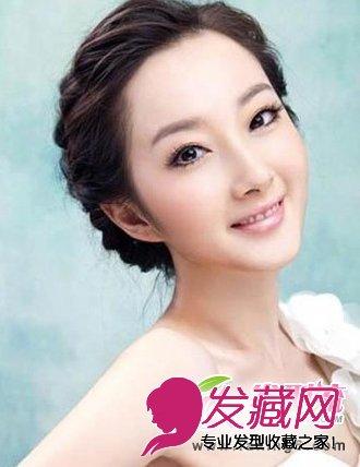 > 追求属于自己的美丽 中式新娘发型图片(3)  导读:辫子盘发新娘 发型图片