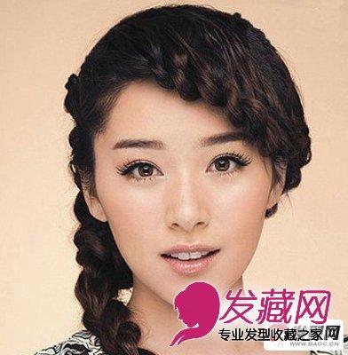 编发发型第五步:这款充满气质的优美麻花辫编发
