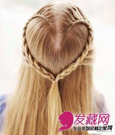 是一款非常好看的心型编发发型,这款发型让女生更显纯洁可爱的气质,从