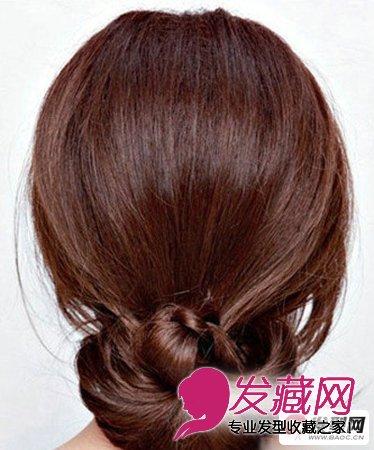 盘发教程 简单几步学会韩式盘发发型扎法技巧图片