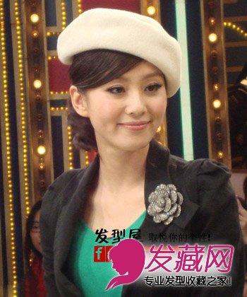 刘诗诗胡歌服饰调情显浪漫 看刘诗诗甜蜜女孩发型(2)