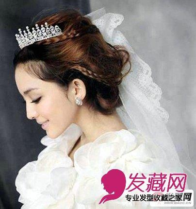 2013时尚唯美的韩式新娘发型图片欣赏(4)