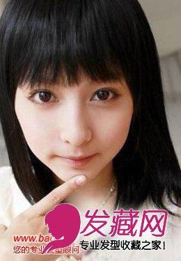 街拍齐刘海适合什么脸型(6)