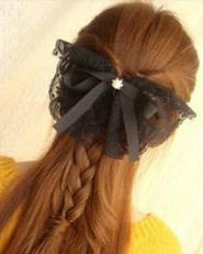 长发怎么扎好看 麻花辫编发半扎发