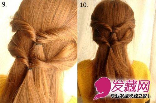 发型网 女生发型 女生长发发型 > 长发怎么扎好看 麻花辫编发半扎发(6