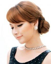 感觉很优雅看起来很有气质 韩式麻花辫盘发