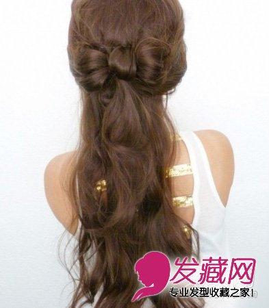 公主范蝴蝶结半扎发发型(7)