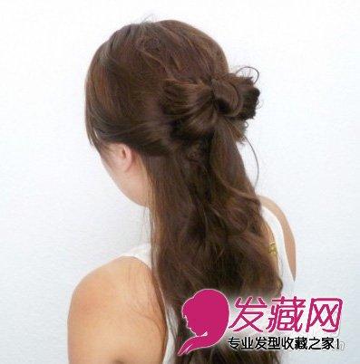 公主范蝴蝶结半扎发发型(8)