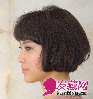 发型点评:如果头型不够饱满可以_发型设计图片
