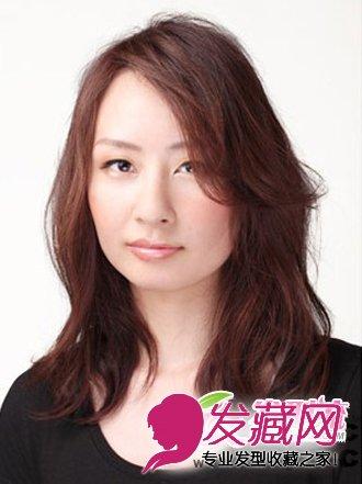 2014流行中长发发型图片 优雅时尚女生发型 6 刘海发型 发藏网 -编辑