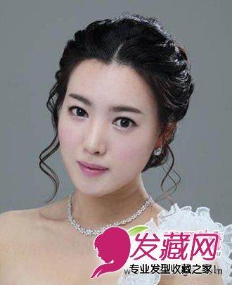 五款韩式新娘发型图片