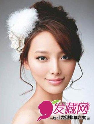 发型网 女生发型 新娘发型 > 唯美韩式新娘发型(4)  导读:花苞头新娘