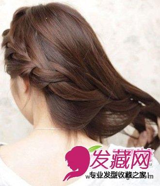 甜美中长发发型扎法 时尚盘发发型推荐(3)图片