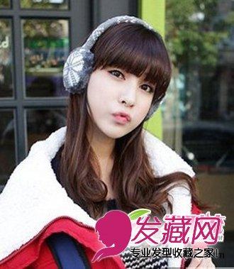 导读:齐刘海 中长发梨花头 将女生 中长发发型 打造出梨花烫的发型