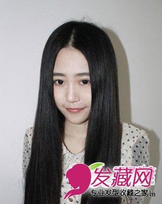 导读:中分黑色 长直 发 中分的黑色长直发发型,中分刘海的发型设计图片